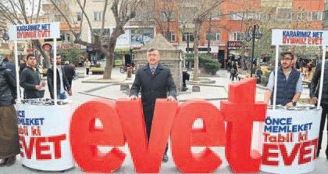 Başkan Akdoğan evet gezisine çıktı
