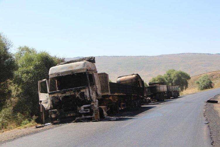PKK aracını yaktığı şoförü yakmak istedi!