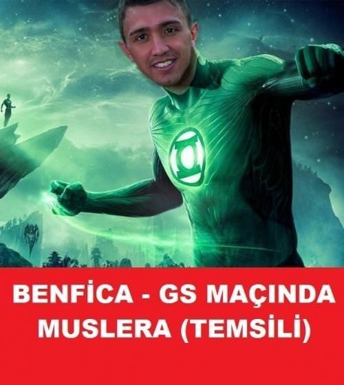 Sosyal medyada Benfica-Galatasaray maçı caps'leri.