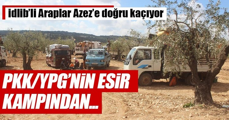 Kimliklerine el konulan Araplar, PKK/YPG'nin esir kampından Azez'e kaçıyor