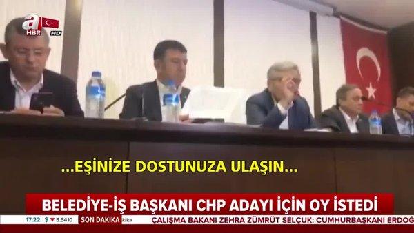 Belediye-İş Sendikası Başkanı Nihat Yurdakul'un 23 Haziran öncesinde CHP adayı için oy istediği görüntüler | Video