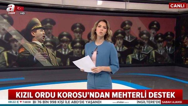 Kızıl Ordu Korosu'ndan, Türkiye'ye Mehter Marşlı Destek!
