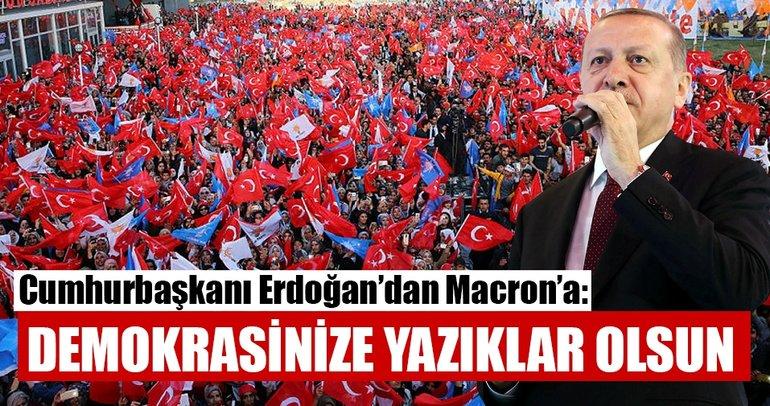 Cumhurbaşkanı Erdoğan: Demokrasinize yazıklar olsun