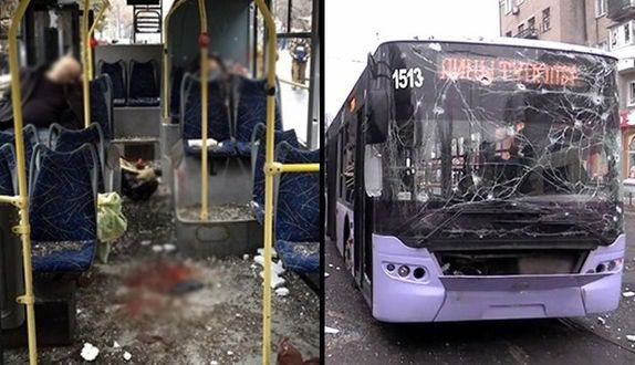 Ukrayna'da otobüs durağına bombalı saldırı