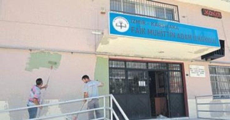 Karşıyaka'da okul tadilatları başladı