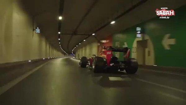 Formula 1 aracı, ilk kez kıtadan kıtaya denizin altından böyle geçti | Video