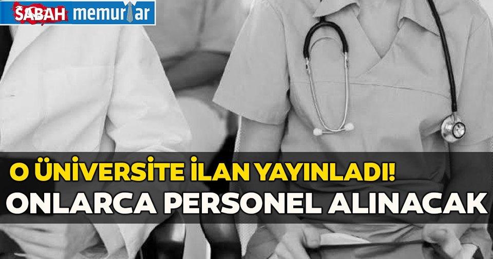 Son dakika: O üniversite 108 Sözleşmeli sağlık personeli alacak! Sağlık personeli başvuru şartları belli oldu...