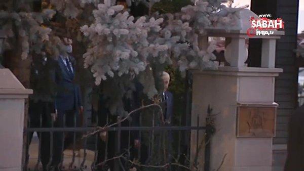 Görüşmenin ardından MHP lideri Bahçeli, Cumhurbaşkanı Erdoğan'ı makam aracına kadar uğurladı | Video