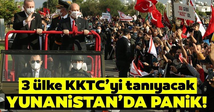 Yunan medyasında panik! Azerbaycan, Pakistan ve Libya KKTC'yi tanıyabilir