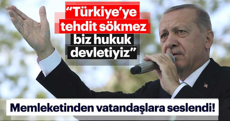 Başkan Erdoğan memleketi Rize'de açıklamalarda bulundu