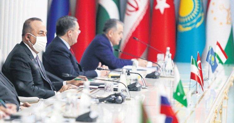 Çavuşoğlu, Afgan lider Gani ile buluştu