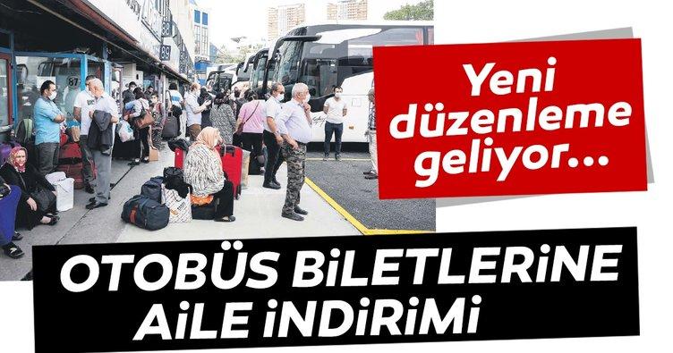 Otobüs biletlerine aile indirimi