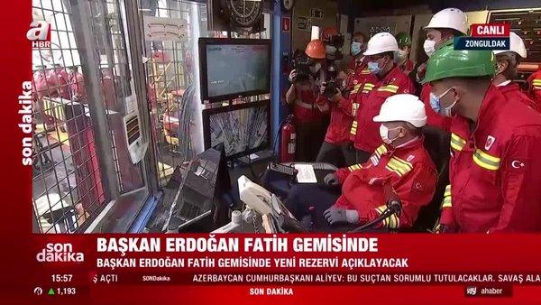 Son dakika haberi... Fatih Sondaj Gemisi'nde tarihi an! Cumhurbaşkanı Erdoğan personele seslendi   Video