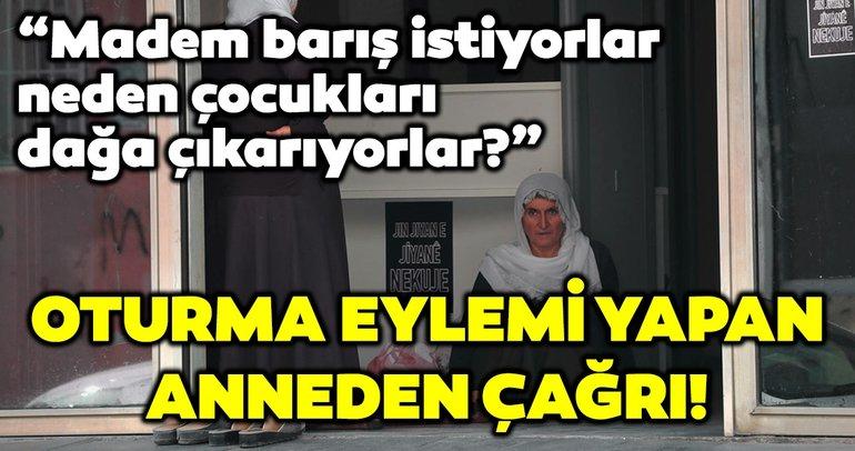 Oğlu için HDP İl Başkanlığı önünde oturma eylemi yapan anne