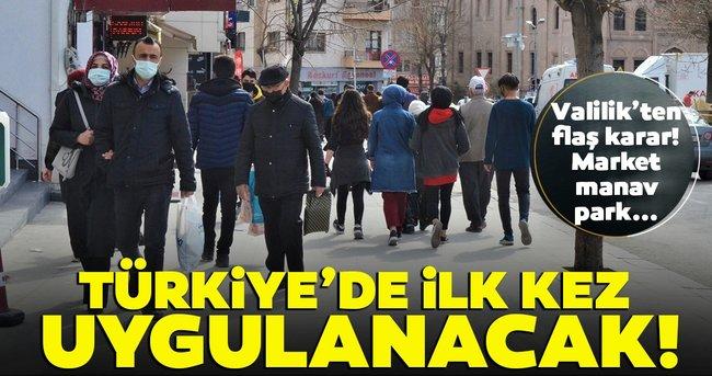 Son dakika: Valilik'ten korona kararı! Türkiye'de ilk kez Aksaray'da uygulanacak