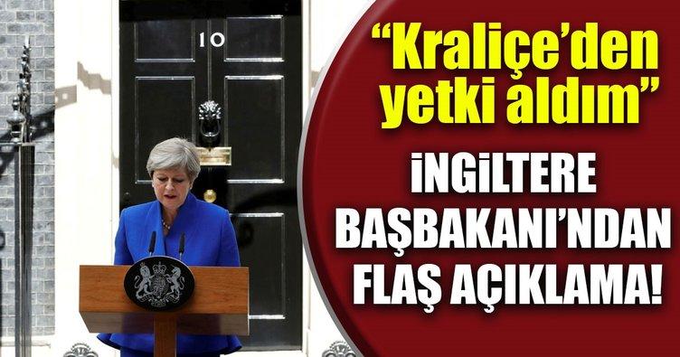 İngiltere Başbakanı Kraliçe'den yetki aldı