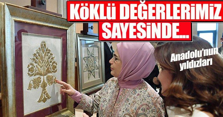 Emine Erdoğan, Anadolu'nun Yıldızları Sahne Sunumunu izledi