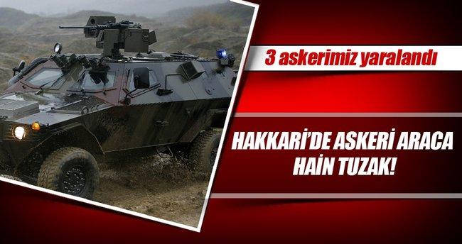 Hakkari'de askeri araca hain tuzak!