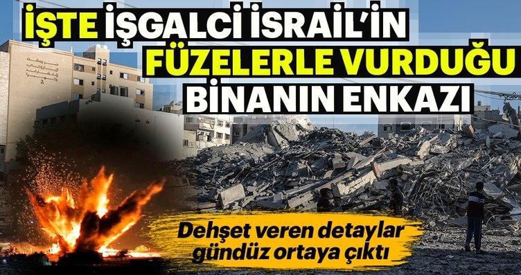 İşte İşgalci İsrail'in vurduğu binanın gündüz...