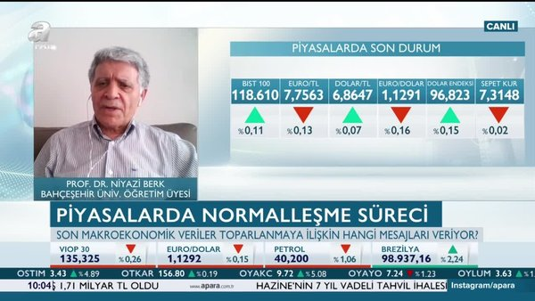 Berk: Alınan önlemlerle Türkiye ekonomisinde pozitif bir etki oluştu