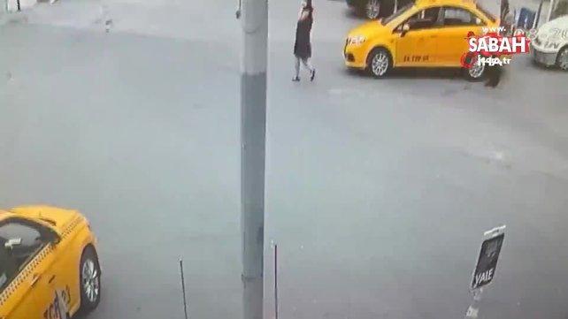 İstanbul'un göbeğinde genç kadına kapkaç dehşeti kamerada   Video