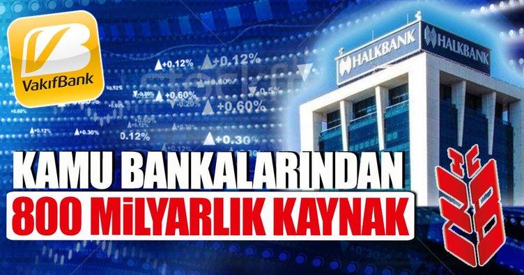Kamu bankalarından 800 milyarlık kaynak