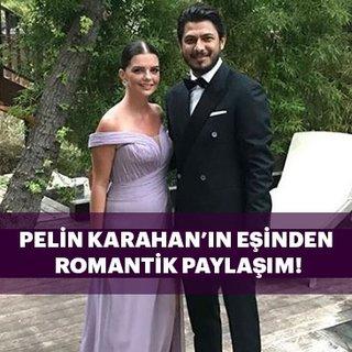 Bedri Güntay'dan oyuncu eşi Pelin Karahan'a romantik yıl dönümü mesajı...