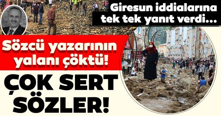 Son dakika: Sözcü Gazetesi Yazarı Saygı Öztürk'ün Giresun yalanı çöktü! Bakan Soylu çok sert sözlerle tepki gösterdi...