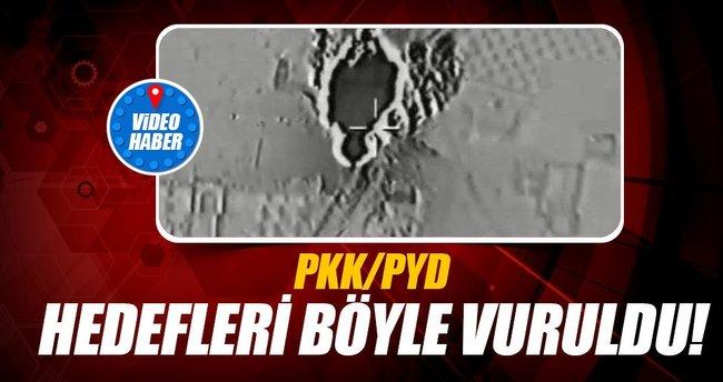 PKK/PYD hedefleri vuruldu