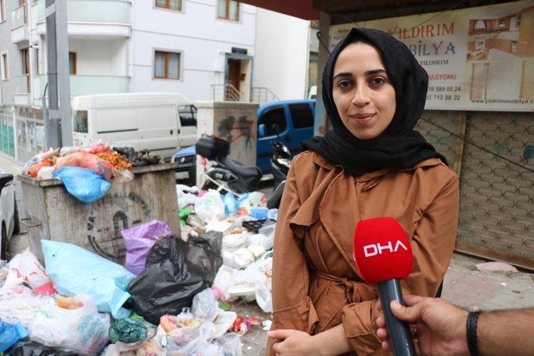 Maltepe'de temizlik işçilerinin eylemi... Sokaklar çöp içinde