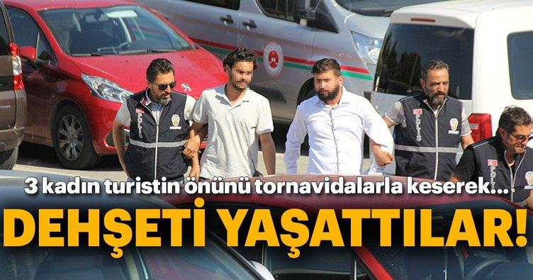 Bodrum'da tornavidalı gaspçılar tutuklandı