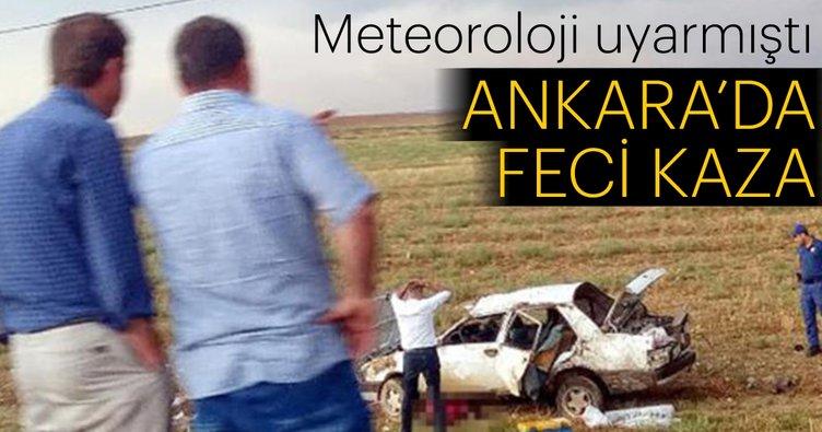 Meteoroloji uyarmıştı! Ankara'da feci kaza