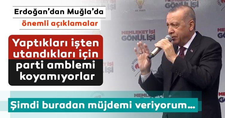 Başkan Erdoğan'dan Muğla'da önemli açıklamalar