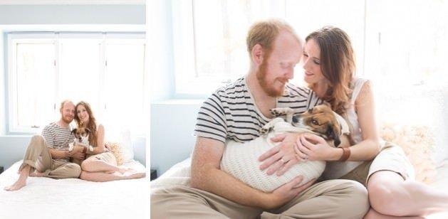 Köpeğe bebek sevgisi