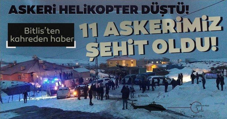 Bitlis'ten son dakika acı haber! Cougar tipi helikopter kalkışından 30 dakika sonra kırıma uğradı: 11 asker şehit
