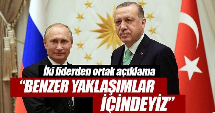Cumhurbaşkanı Erdoğan: Benzer yaklaşımlar içindeyiz