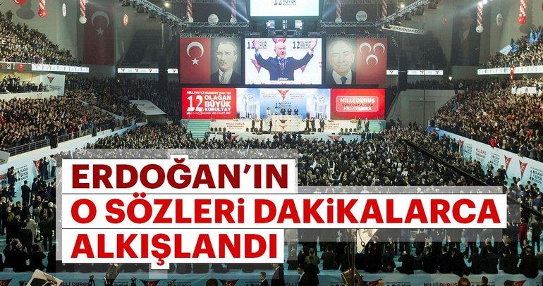 Son dakika: Cumhurbaşkanı Erdoğan'ın mesajı MHP'nin 12. Olağan Büyük Kurultayı'nda okundu
