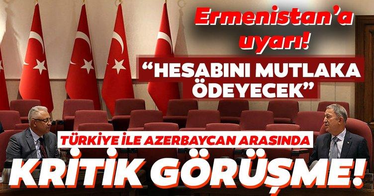 Türkiye ile Azerbaycan arasında kritik görüşme! Bakan Akar'dan son dakika açıklama! Yaptıkları işin hesabını mutlaka ödeyeceklerdir.