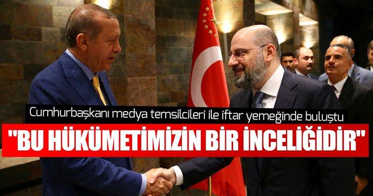 Cumhurbaşkanı Erdoğan medya temsilcilerine iftar verdi