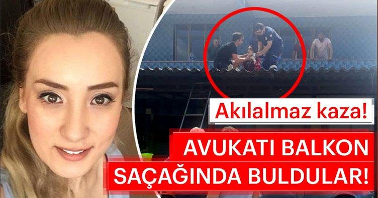 Zonguldak'ta akıl almaz kaza! Avukatı balkon saçağında buldular