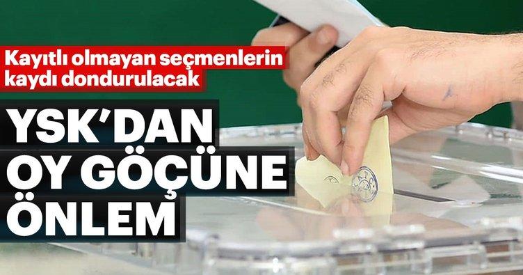YSK'dan oy göçüne önlem