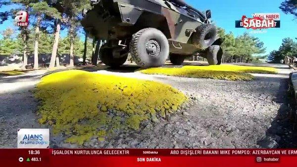 A Haber Jandarma zırhlı araç eğitimini görüntüledi | Zırhlı araçların eğitimi nasıl oluyor? | Video