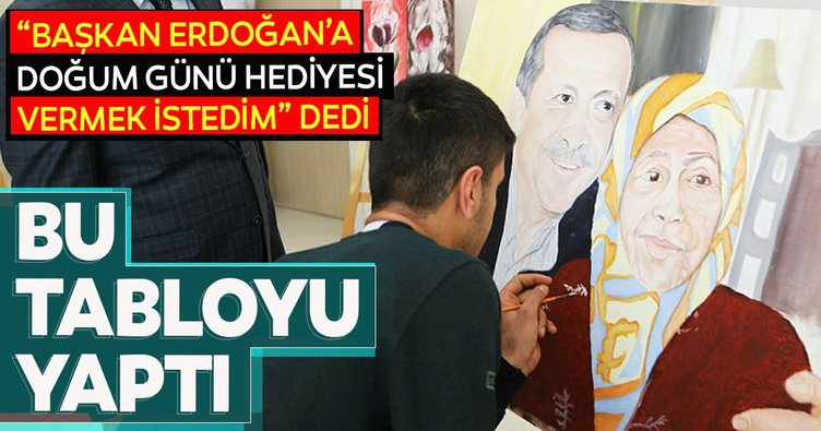 Başkan Erdoğan'a sürpriz doğum günü hediyesi