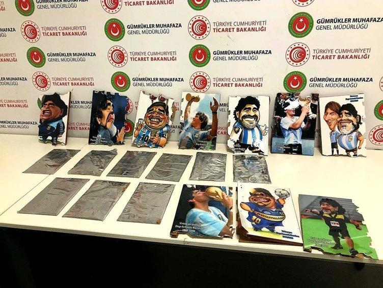 Maradona tablolarının içine gizlenmiş! Piyasa değeri tam 2 milyon lira!