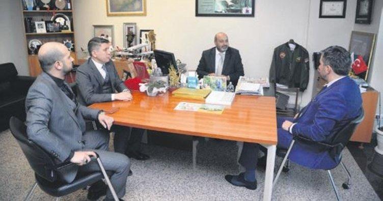 Başkan Ertuğrul Çetin'den Sabah Gazetesi'ne ziyaret