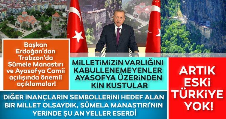 Son dakika: Başkan Erdoğan: Milletimizin varlığını kabul edemeyenler Ayasofya bahanesi ile kin kustular