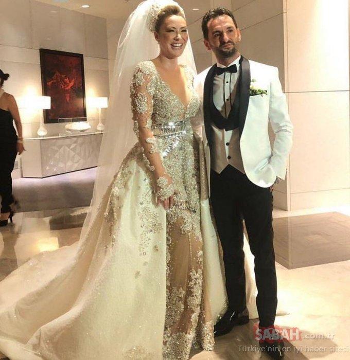 Aylin Coşkun ile Volkan Aslan evlendi! Aylin Coşkun'a kilolarca altın takıldı!