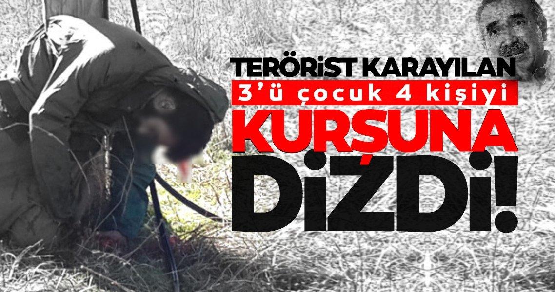 Son dakika haberi: Terörist Karayılan 3'ü çocuk 4 teröristi kurşuna dizdi!