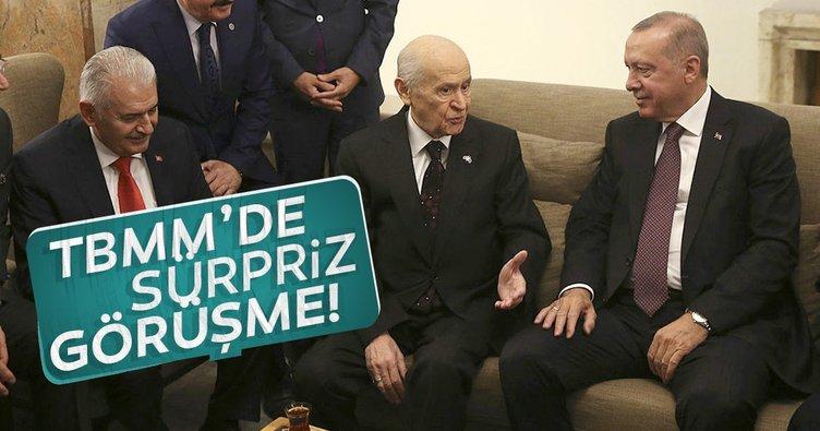Cumhurbaşkanı Recep Tayyip Erdoğan MHP lideri ile bir araya geldi