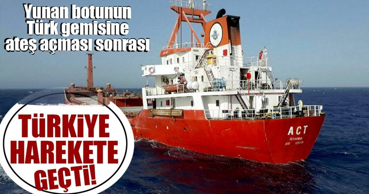 Yunan botu Türk gemisine ateş açtı, Türkiye harekete geçti!